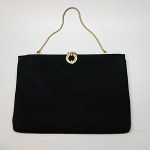 Harry Levine Bags - Black Vintage Jewel Accent HL Evening Handbag